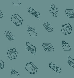 sale outline isometric pattern vector image