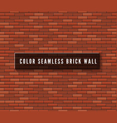 seamless brick wall surface old red brick wall vector image