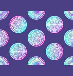 seamless citrus with purple and pink gradient vector image