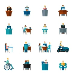 Sedentary Icons Flat vector
