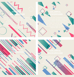 set of abstract avangarde retro background with vector image