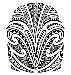 Shoulder tattoo in maori style vector