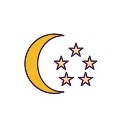 singapore flag elements icon cartoon style vector image
