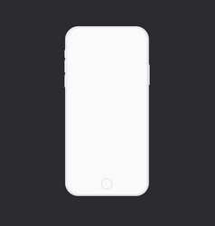 Smartphone modern white mockup empty mobile phone vector