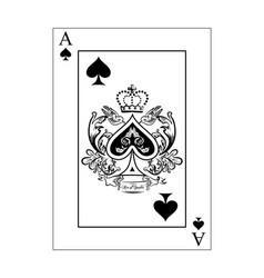 Spades ace vector