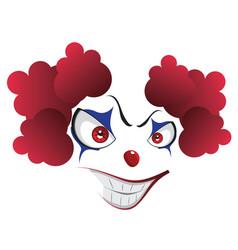Spooky clown face vector