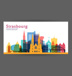 strasbourg colorful architecture vector image