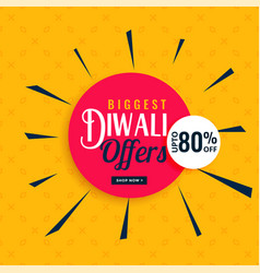 Stylish diwali offers and sale banner design vector