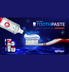 toothpaste brush dental floss and tooth banner vector image