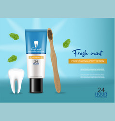 Toothpaste isolated realistic special vector