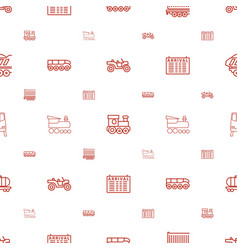 train icons pattern seamless white background vector image