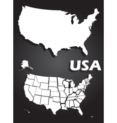 USA map vector