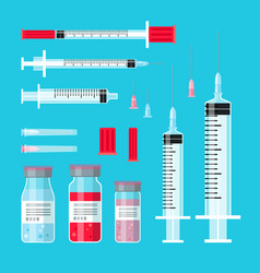 vaccine cure syringes vector image