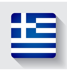 Web button with flag of Greece vector image