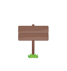 wooden sign isolated on white vector image