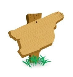 Wooden sign with green grass vector