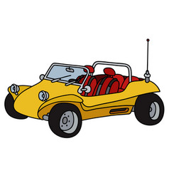 Yellow dune buggy vector