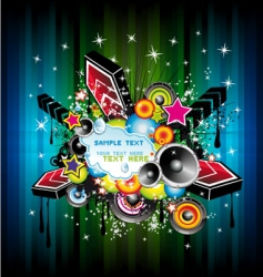 disco music poster vector image vector image