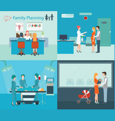 family planning at the hospital vector image