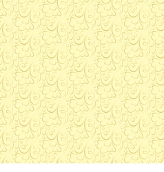 floral pattern on a beige background vector image vector image