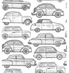 seamless background with retro cars vector image vector image