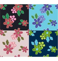 summer flower pattern vector image vector image