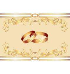 wedding ring vector image
