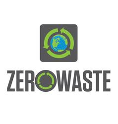 zero waste badge or emblem design vector image vector image