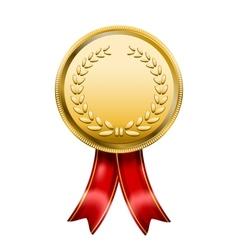 Award medal rosette label vector