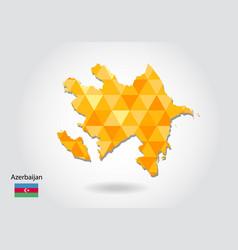 geometric polygonal style map of azerbaijan low vector image