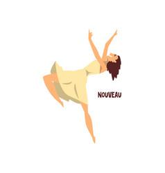 girl dancing nouveau dance on vector image