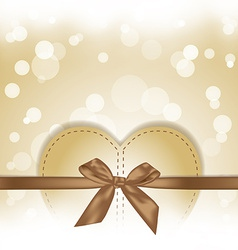 golden hearts gift on magical background vector image