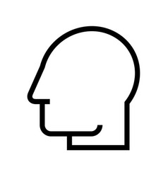 head silhouette profile icon avatar vector image vector image