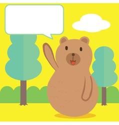 Bear Talk vector image vector image