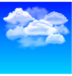 blue sky and clouds background vector image vector image