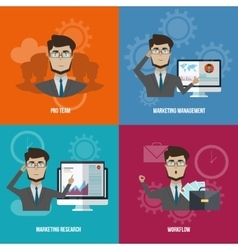 Business Manager Icon Set vector image