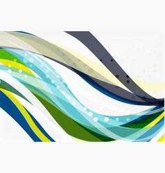 colorful flowing wave abstract background vector image vector image