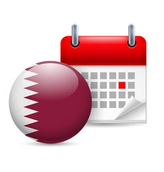 Icon of national day in qatar vector image