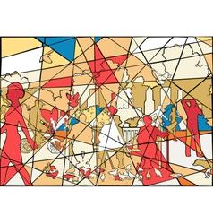 Park mosaic vector image vector image