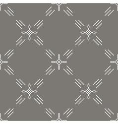 Seamless pattern mono line art style vector image vector image