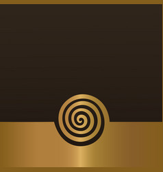 abstract gold spiral background design element vector image vector image