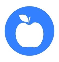 Apple icon black Singe fruit icon vector image vector image