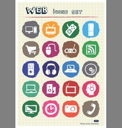 Household appliances and electronics web icons set vector image vector image