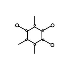 molecular icon vector image