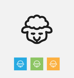 of zoology symbol on lamb vector image