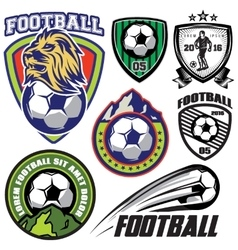 set template sports logos and design vector image