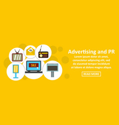 Advertising and pr banner horizontal concept vector