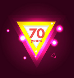 anniversary 70 icon vector image