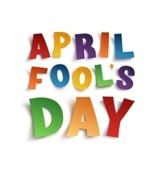 April Fools Day background template vector image