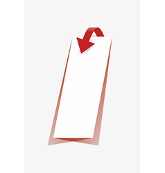 Arrow and paper with shadow vector